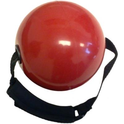 Činka posilovací fitness koule 900g červená s popruhem v krabičce