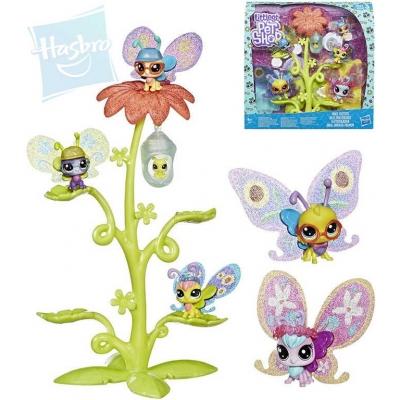 HASBRO LPS Littlest Pet Shop Domeček květinový set s 6 motýlky