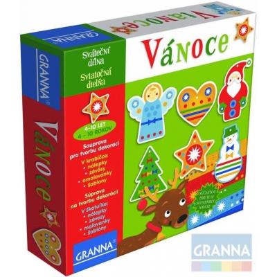 GRANNA Vánoce sváteční dílna kreativní set výroba dekorací v krabici