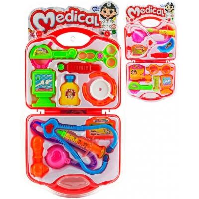 Souprava doktorská dětské lékařské potřeby set 12ks v kufříku 2 druhy plast