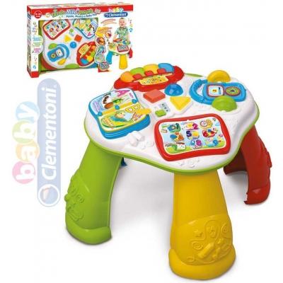 CLEMENTONI Baby stoleček interaktivní vzdělávací s tabletem na baterie plast
