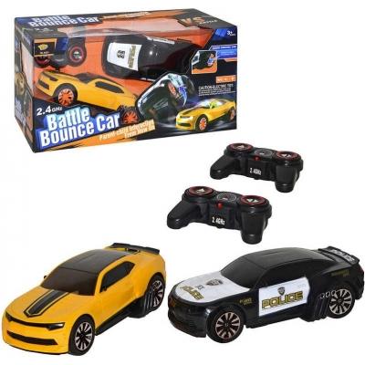 RC Hra bitva dvou aut set 2 auta 22cm na vysílačku 2,4GHz na baterie Světlo Zvuk
