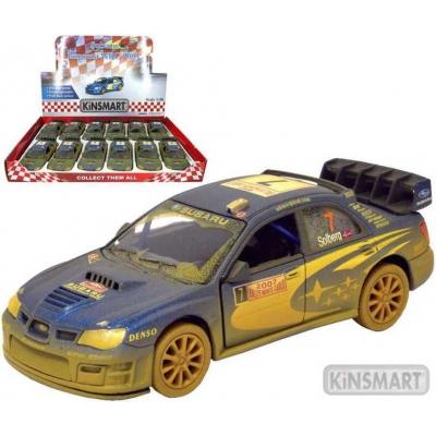 KINSMART Auto model 1:36 SUBARU IMPREZA WRC 2007 kov PB 13cm