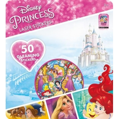 JIRI MODELS Samolepky super třpytivé Disney Princezny