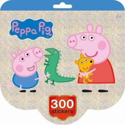 JIRI MODELS Holografický blok se samolepkami set 300ks Peppa Pig