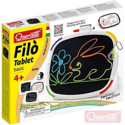QUERCETTI Filo Tablet Basic kreslení tkaničkami na suchý zip / malování fixami 2v1