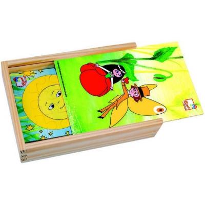 BINO Puzzle Maková panenka 4 ks * DŘEVĚNÉ HRAČKY *