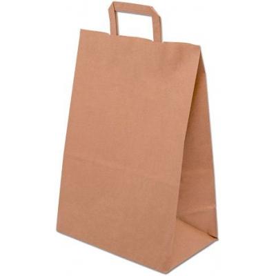Taška papírová hnědá 32x41x16cm ploché uši