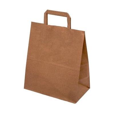 Taška papírová hnědá 45x39x17cm ploché uši