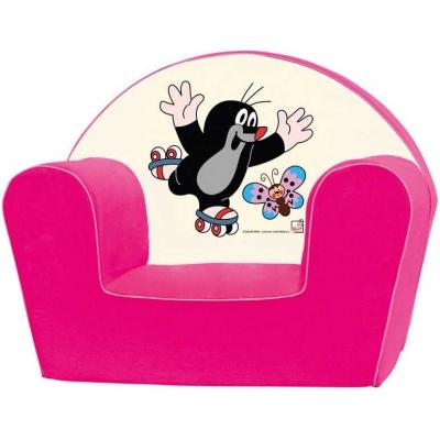 BINO Křesílko dětské růžové KRTEK (Krteček)
