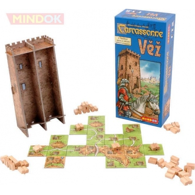 MINDOK HRA Carcassonne rozšíření 4 Věž *SPOLEČENSKÉ HRY*