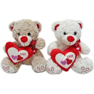 PLYŠ Medvídek srdcík 30cm se srdíčkem Love 2 barvy PLYŠOVÉ HRAČKY