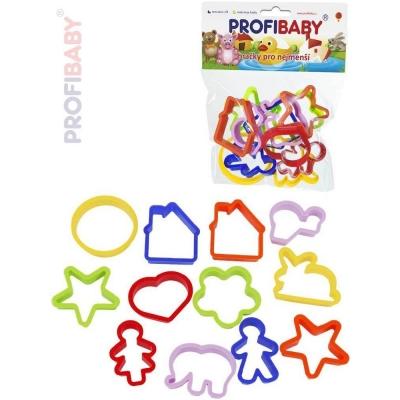 PROFIBABY Baby vykrajovátka barevná set 12ks v sáčku pro miminko