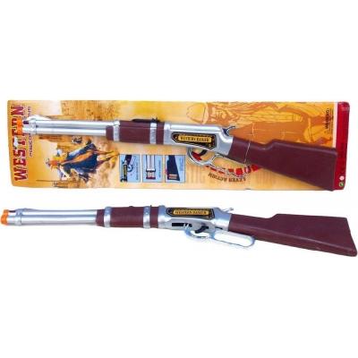Puška dětská 61cm western plastová na baterie Světlo Zvuk na kartě