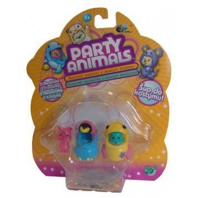 EP Line Party Animals blistr set medvídek 2ks s kostýmem a doplňky různé druhy