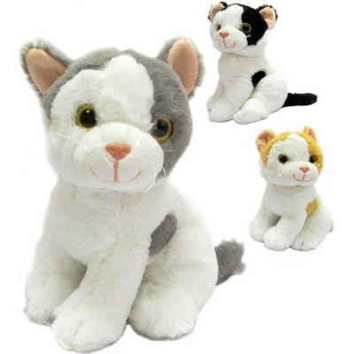 PLYŠ Kočička Mája 26cm na baterie Zvuk 3 barvy *PLYŠOVÉ HRAČKY*