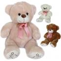 PLYŠ Medvěd Tlapka 40cm s růžovou mašlí 3 barvy *PLYŠOVÉ HRAČKY*