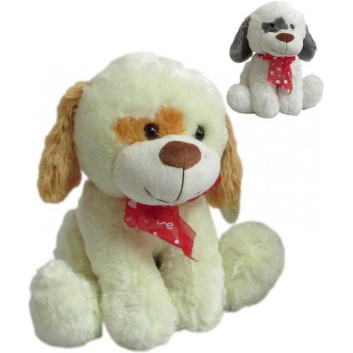 PLYŠ Pes Raf 30cm s flíčkem PLYŠOVÉ HRAČKY