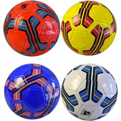 Míč dětský fotbalový barevný 23cm s potiskem lakovaný 4 barvy