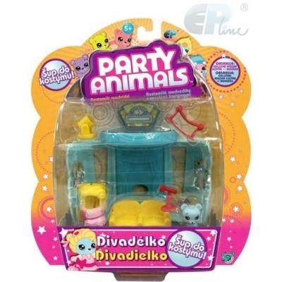 EP Line Party Animals hrací sada medvídek s kostýmem a doplňky 3 druhy
