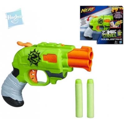 HASBRO NERF Pistole Zombie kapesní Doublestrike Set s náboji