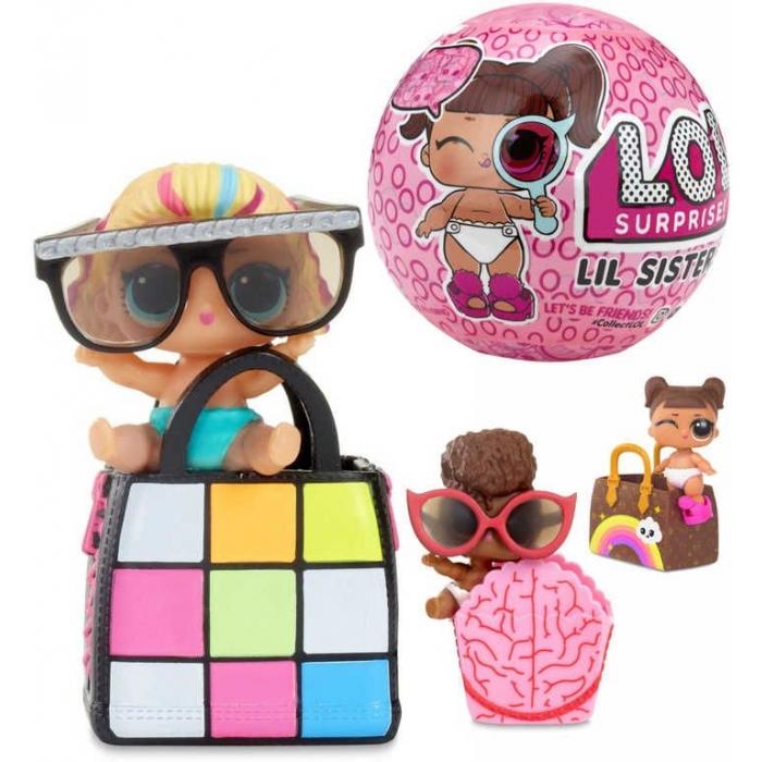 L.O.L. Surprise Lil Sisters Sestřička s doplňky v kouli zábavný set 6 překvapení