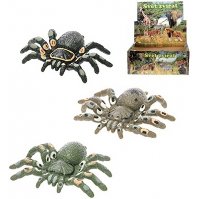 Pavouk strečový 6cm zvířátko gumové 3 barvy
