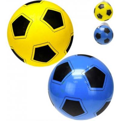 Baby míč potištěný balon 22cm design fotbal 2 barvy v síťce