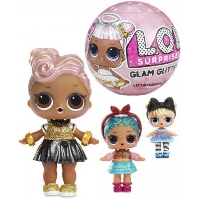 L.O.L. Surprise Glam Glitter třpytková panenka s doplňky v kouli 7 překvapení