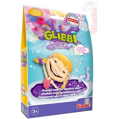 SIMBA Glibbi prášek fialový třpytivý 150g na výrobu slizu do vany v sáčku
