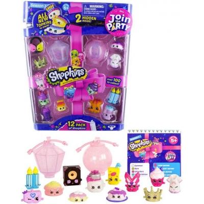 Shopkins párty 7.serie postavičky plastové herní set 12ks na kartě