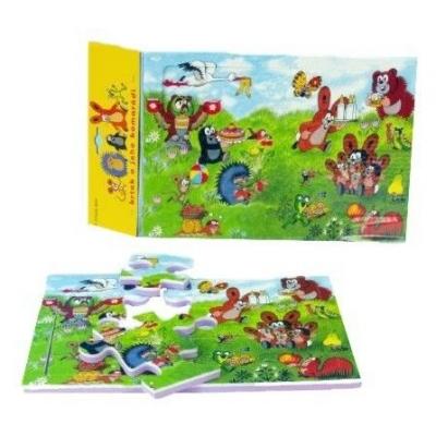 Pěnové puzzle na zem do vany měkké 27x19cm Krtek (Krteček) 12 dílků 2 druhy