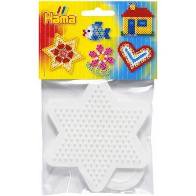 HAMA Midi podložka na zažehlovací korálky hvězda + srdce set 2ks na kartě