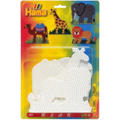 HAMA Midi podložka na zažehlovací korálky zvířátka set 4ks na kartě