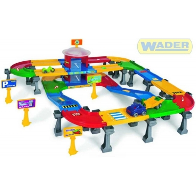 WADER Garáž KID CARS 3D s dráhou 6,1 m 53060 Kaskáda s parkováním