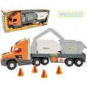 WADER Auto nákladní Super Tech Truck 78cm set se 2 kontejnery 36760