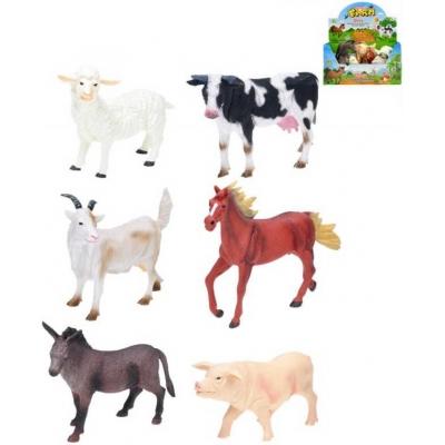 Zvířátka domácí farma 15-20cm plastová figurka 6 druhů