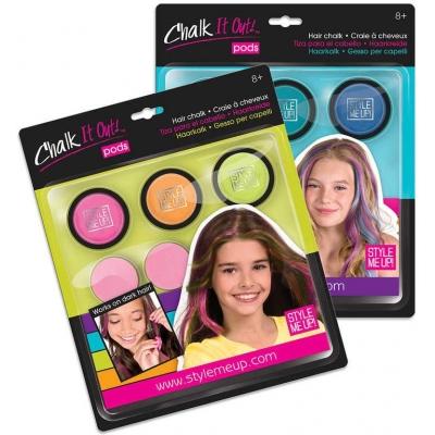 SMU Křídy dětské na vlasy kreativní sada 3 barvy s aplikátory Style Me Up