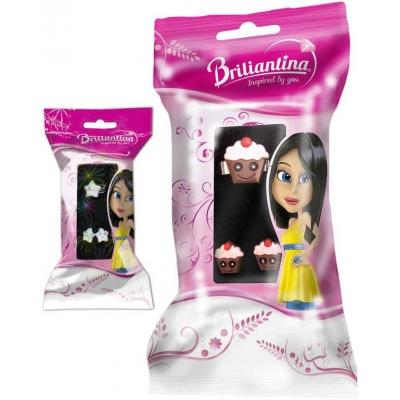 Briliantina dárkový dětský set náušnice + prstýnek dětská bižuterie různé druhy