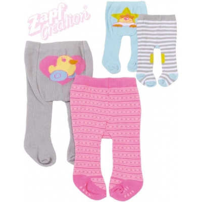 ZAPF BABY BORN Punčocháče set 2ks obleček pro panenku miminko