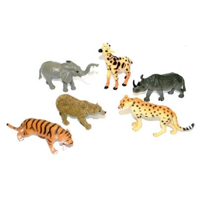 Zvířátka v sáčku divoká SAFARI 6 kusů