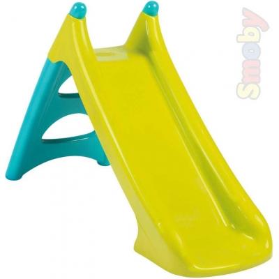 SMOBY Skluzavka (kouzačka) dětská XS 90cm zeleno-modrá baby plastová s vlhčením