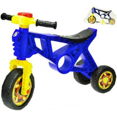 Motorka dětské odrážedlo tmavě modré 60x43x19cm s klaksonem plast