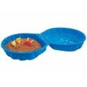 Pískoviště přenosné bazének modrá mušle s víkem 180x87x20cm uzavíratelné plast