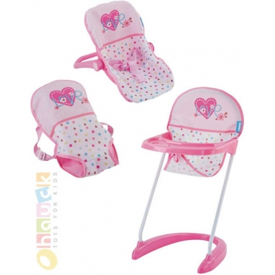 HAUCK Set baby autosedačka s židličkou nosítkem pro panenky do 43cm