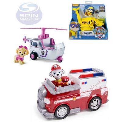 SPIN MASTER Vozidlo záchranářské funkční s figurkou Tlapková patrola plast 6 druhů