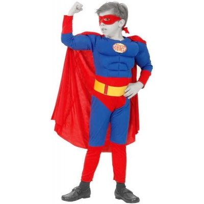 KARNEVAL Šaty SUPERMAN vel. M (120-130 cm) 5-9 let KOSTÝM
