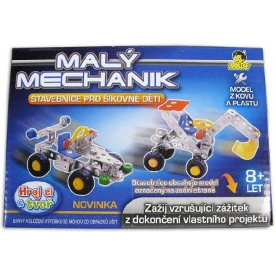 Mechanik malý 17 cm 4 druhy *Stavebnice typu Merkur z kovu a plastu*