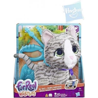 HASBRO FurReal Friends Walkalots kočka velká s vodítkem na venčení na baterie Zvuk