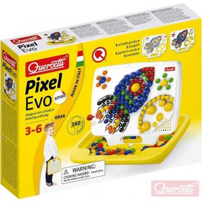 QUERCETTI Hra Pixel Evo Small mozaika s kolíčky set 160ks + 3 předlohy